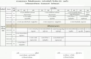 ตารางสอบปลายภาค ม ปลาย2-2559 วันศุกร์